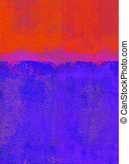 Rolled paint background - Red and blue rolled paint...