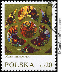 POLAND - CIRCA 1971 Angel - POLAND - CIRCA 1971: A Stamp...