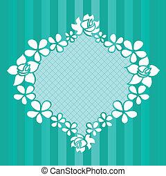 Funny floral green frame