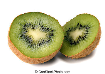 cuted kiwi on white background