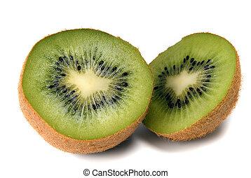 cuted kiwi on white background