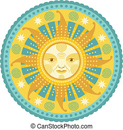 Daylight Mandala - Concentric decorative illustration of the...