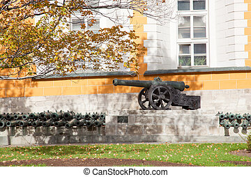 Ancient gun near the Arsenal in territory of the Moscow...