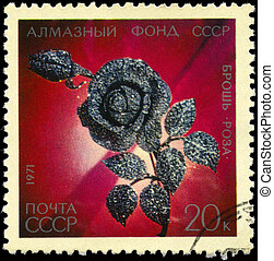 USSR - CIRCA 1971 Diamond Rose
