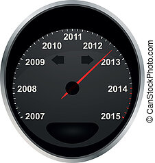 odometer 2012 - illustration of years odometer, 2012 year