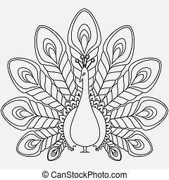 Pavo real, Extracto,  vector