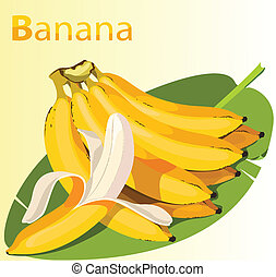 Yellow Banana - Illustration of Ripe Yellow Banana
