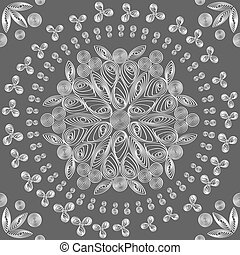 vector seamless floral lace white pattern - an exquisite...