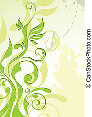 abstract vector green summer background