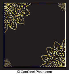 the abstract vector peacock - the abstract gold vector...