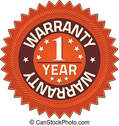 Warranty 1 year Quality Guarantee Badges