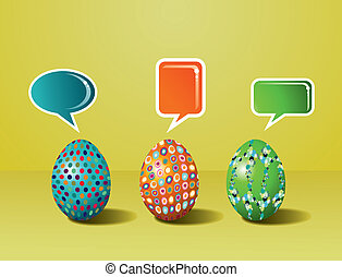 Social media painted Easter interaction - Communicative...
