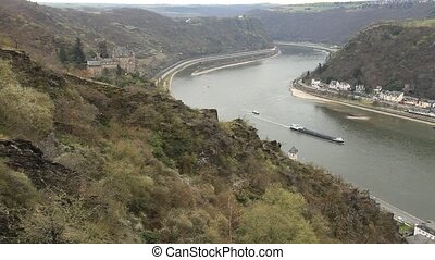 Rhine 2 - Middle Rhine Valley with Burg Katz and the...