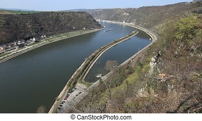 Rhine 6 - Middle Rhine Valley with View from the Loreley...