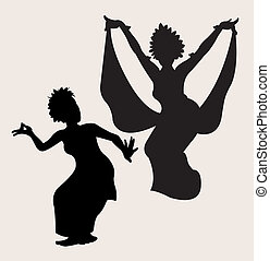 Traditional dance silhouette 2