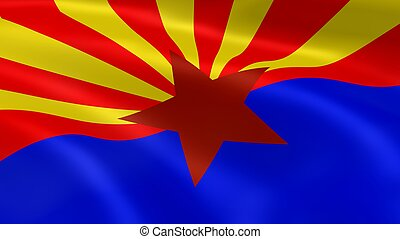 Arizonan flag in the wind. Part of a series.