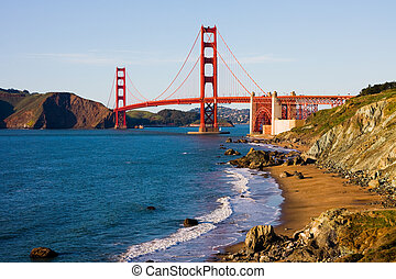 Golden Gate Bridge in San Francisco on a sunny day