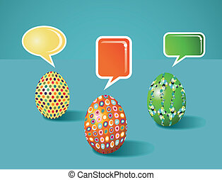 Social media painted Easter communication