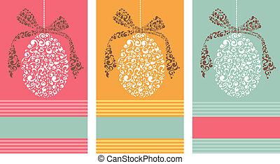 Tribal Easter eggs background set