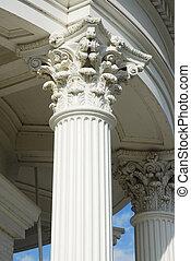 Corinthian Capitol 2 - Corinthian capitol set atop a fluted...
