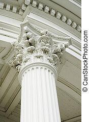 Corinthian Capitol - Corinthian capitol set atop a fluted...