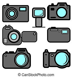 A set of digital cameras