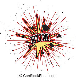 Vector illustration of an explosion. EPS10