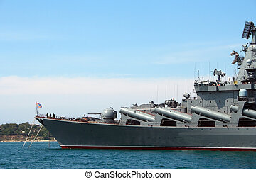 russian ship in Sevastopol - military russian ship in...