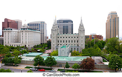 Salt Lake City downtown, Utah
