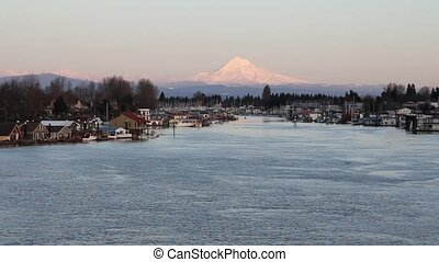 Mount Hood along Columbia River