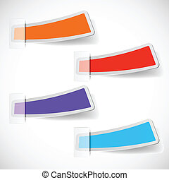 the abstract colored sticker set