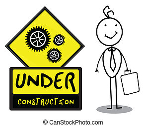 Under Construction sign - Under Construction people...