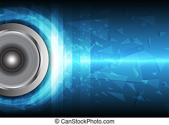 Power of sound - sound wave from loudspeaker