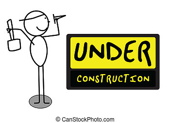 Under Construction people illustration vector