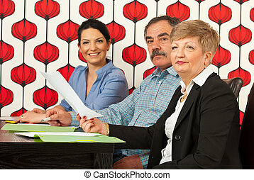 Group of people at meeting - Group of different age of...