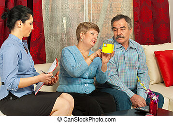 Real estate with mature couple