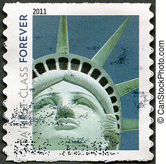 UNITED STATES OF AMERICA - 2011: shows Statue of Liberty -...