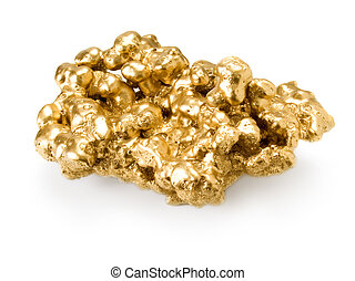 Gold nugget - Gold nugget isolated on white background