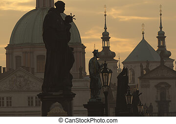 Charles Bridge at dawn (Prague)
