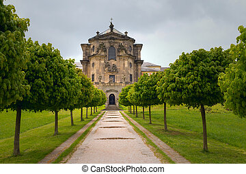 Baroque castle Kuks in Czech Republic (Eastern Europe) - The...