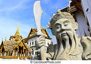 statue chinese in The Royal Grand Palace, Bangkok, Thailand