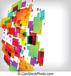 the abstract square colorful background