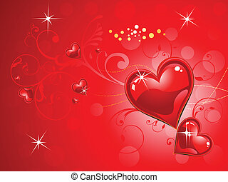 abstract red valentine heart