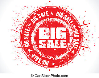 abstract big sale stamp