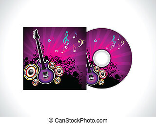 abstract musical cd template vector illustration