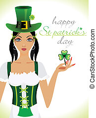 abstract st patrick girl