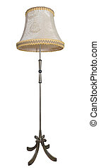 Floor-lamp - Beige floor lamp isolated over white background