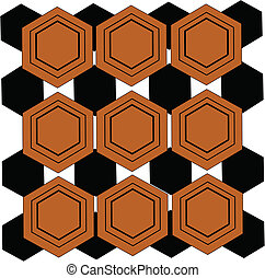 hex pattern wallpaper background from sixties era