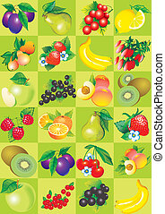 Fruit and berries - Seamless pattern of fruit and berries...