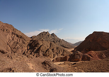 A bible landscape - desert Sinai in  Winter